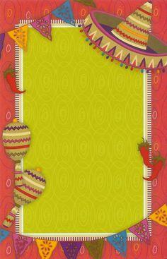 Póster para notas o invitación de fiesta mexicana