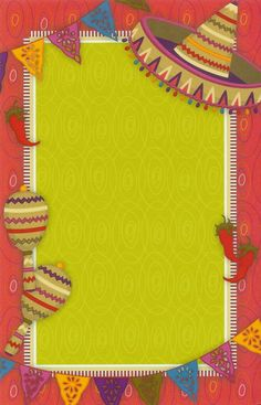 Poster Para Notas O Invitacion De Fiesta Mexicana Mexican Party Birthday Parties