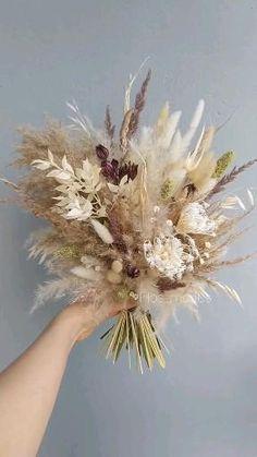 Dried Flower Bouquet, Flower Bouquet Wedding, Dried Flowers, Floral Wedding, Fall Wedding, Bride Bouquets, Bridesmaid Bouquet, Flower Decorations, Wedding Decorations
