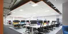Open Space Office, Ceiling Height, Visual Comfort, Contemporary Architecture, Modern Design, Building Products, Table, Loft, Furniture