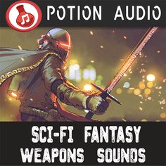 Sci-Fi Fantasy Weapons Sounds 116 High-Quality combat, weapons sound effects divided in: - Sword of Light - Metallic Impact Sword - Shield - Futuristic Sword - Electric Sparks Sword - Standard Sword --- More about the pack: - Intuitive file naming - The sounds can be used for different weapons (not only swords, you choose - All you'll ever need regarding magical weapons sounds [Use them again & again] Use the sound effects over and over, in any of your projects or productions, forever…
