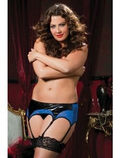 3ad701c156 Cheap Blue Royale Lace And Liquid Lame Intimate Garter Belt Plus online -  All Products