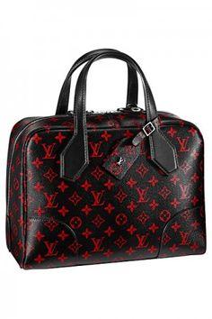 Louis Vuitton Red/Black Monogram Canvas Dora Souple MM Bag - Spring 2015