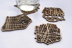 Collection of creative coasters and unusual coaster designs from around the world.
