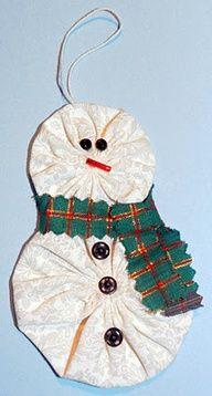 snowman yo yo ornament