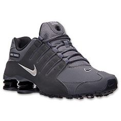 Men's Nike Shox NZ Running Shoes  FinishLine.com   Dark Grey/Metallic Iron Ore/Anthracite