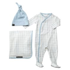 Petunia Pickle Bottom's Snuggle Set ($60) features a subtle, sophisticated pattern on 100 percent organic cotton.