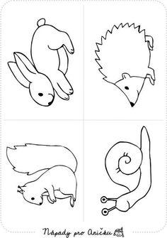 coloring pages - Pdf verzi ke stažení naleznete Jungle Coloring Pages, Animal Coloring Pages, Colouring Pages, Coloring Pages For Kids, Coloring Books, Coloring Sheets, Forest Animal Crafts, Forest Animals, Woodland Animals