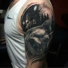 Bear Shoulder Tattoo by dubuddha.org