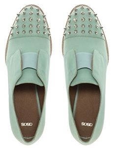 ASOS ASOS MITCHELL Leather Flat Shoes With Spike
