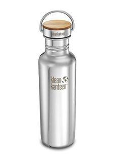 Klean Kanteen Edelstahlflasche mit Unibody Bamboo Cap 532 ml Reflect, Mirrored Stainless, 8020057