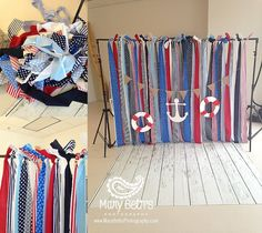 Nautical Theme Birthday and Cake Smash Portraits for Mary Beth's Photography in…