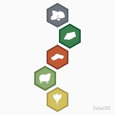 Settlers of Catan - Resource Tiles