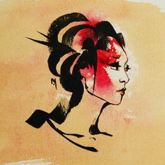 fine artistic geisha art | Spring Geisha Art Print by Mishfit | Society6