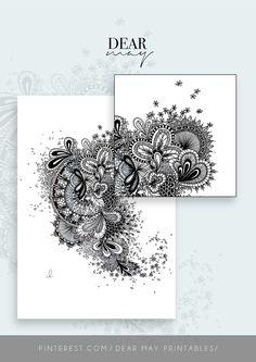 Mandala Wall Art No. 7 ⋆ Mandala Print ⋆ Black and White Print ⋆ Wall Decor ⋆ Boho Chic ⋆ Minimalist Design ⋆ Digital Download ⋆ Printable ⋆ Dear May Printables Mandala Printable, Wall Decor, Wall Art, As You Like, Minimalist Design, Wall Prints, Boho Decor, Decorating Your Home, Boho Chic