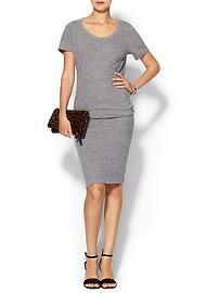 Monrow Knit Short Sleeve Tee Dress