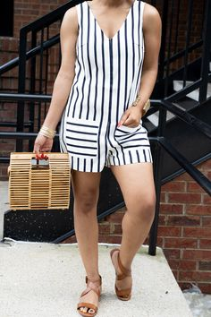 Anays Striped Romper Casual Dresses, Casual Outfits, Fashion Outfits, Blouse Styles, Jumpsuits For Women, Playsuit, Cool Outfits, Rompers, Plus Size