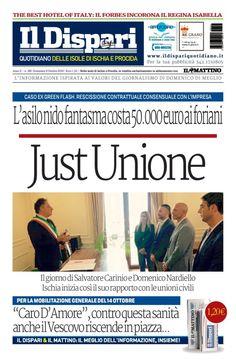 La copertina del 09 ottobre 2016 #ischia #ildispari