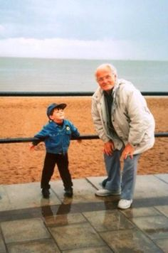 louis with his grandpa. This is SOO cute