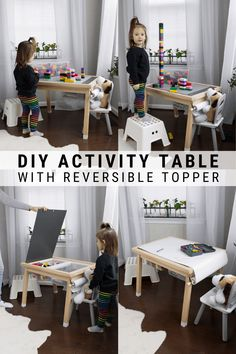 My DIY lego table with storage doubles as an art table with a paper dispenser and space for art supplies. Grab the free build plans now!