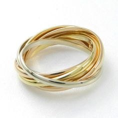 Trinity 7 bands Cartier ring
