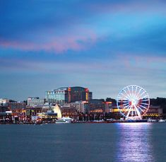 National Harbor, Oxon Hill,  Maryland.    This is a nice place to visit.  Don't forget to ride the Capitol Wheel that will give you view of Washington Monument and other major DC landmarks and Virginia. Don't forget to enjoy the foods and the shipping at Tanger Outlets just 5 minutes away.