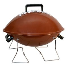 Charcoal Football Grill keep the decorations going onto the grill.  It's the perfect size for the family's burgers and slab of ribs. Your husband will love it.  $67.08