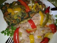 Králičie plece na paprike a slanine s jarnou cibuľkou (fotorecept) - Recept