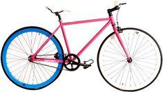LOVE LOVE LOVE  Retrospec Fixie Beta Series Betty Davis Fixed Gear Single Speed Urban Road Bike (Pink/Blue, Small) by Retrospec Bicycles,