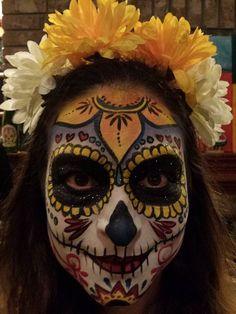 Dia De Los Muertos sugar skull day of the dead sugar skull done by La Gigi