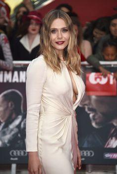 Elizabeth Olsen arrives for the European film premiere of 'Captain America: Civil War' at Vue Westfield on April 26, 2016 in London, England