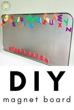 I love using up empty wall space to make it more functional for learning at school and at home. This DIY magnet board couldn't be easier to make!