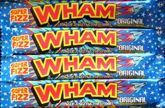 Wham Bars x Uk Sweets, Retro Sweets, Wham Bar, Plastic Earrings, Blue Eyeshadow, Favorite Candy, Electric Blue, 21st Birthday, Addiction