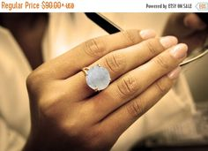 30% Off Sale - 14k gold moonstone ring,gemstone ring,semiprecious rings,statement ring,cocktail ring,large stone ring,proposal ring by AnemoneJewelry on Etsy https://www.etsy.com/listing/237608626/30-off-sale-14k-gold-moonstone