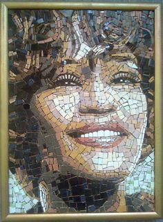 Contemporary Whitney Houston handcut Ceramic Tiles Mosaic Art Wall Hanging Gift | eBay
