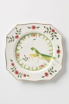 Nature Table Plate, Praying Mantis