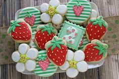 Clough D9 Cookies & Sweets:  Strawberries ..... (using an acorn cutter).  ♡♡♡♡♡