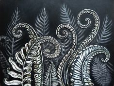 Ferns Unfurling--I was inspired by the sword ferns outside my studio. How they gracefully unwind themselves to stand each season.