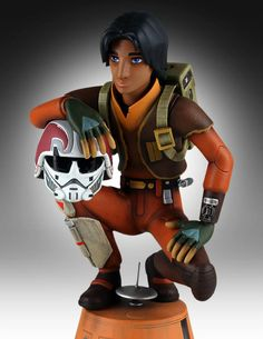 Star Wars Rebels Ezra with Chopper Maquette 1
