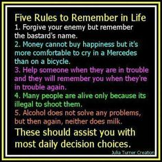 Five Rules of Life