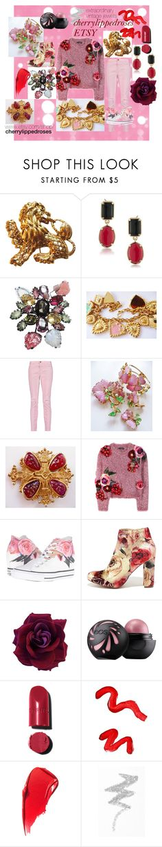 extraordinary vintage jewelry by cherrylippedroses on Polyvore featuring Dolce&Gabbana, Current/Elliott, Liliana, Converse, ESCADA, 1st & Gorgeous by Carolee, Accessocraft, Chanel, Topshop and NYX
