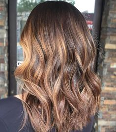 Toffee lights✨ balayage by LUX Stylist Denise @deniseloveshair