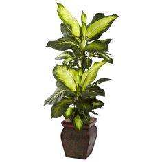 Nearly Natural 45-inch Golden Dieffenbachia Decorative Plant
