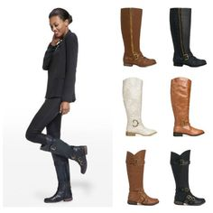 Wide Calf boots now available from @JustFab