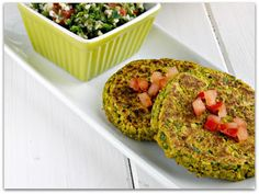 Vegan. Oil free. Unfried. Falafel Burgers. Fabulous.
