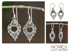 Novica Joy Style Handmade Artisan Designer Balinese Fashion Clothing Accessory Sterling Silver Gold Plated Jewelry Earrings