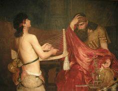 Als David moeste vluchten Voor Saul den Tyran Ernst Josephson, Sweden