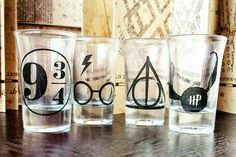 HP Shot Glasses, $17 | 19 Things Everyone Who Loves Harry Potter And Booze Needs To Own