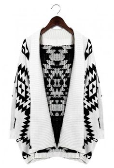 Cute and cozy aztec knit sweater!