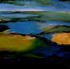 "Acrylic 2013 Painting ""Tidal flats, the Dutch coast"" Dutch, Saatchi Art, Landscapes, Coast, Van, Fine Art, Artist, Painting, Paisajes"